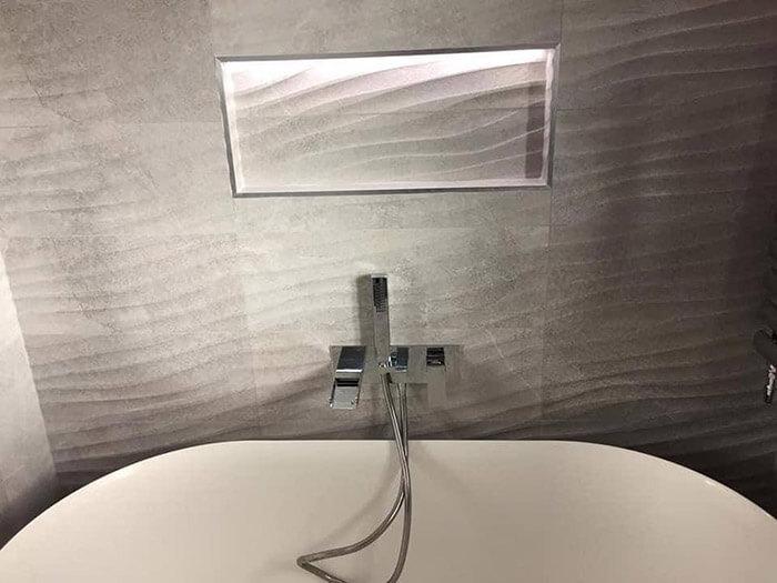 Newly renovated bathroom tub